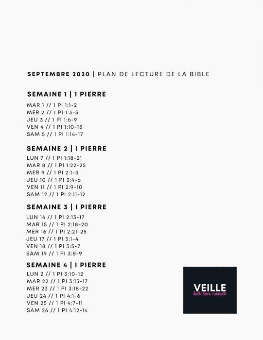 Plan de lecture septembre 2020 1 Pierre
